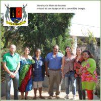 Monsieur le Maire de Koumac entouré de son équipe et de la conseillère énergie